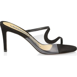 Alexandre Vauthier Women's Ava Ghost Suede Sandals - Black - Size 35.5 (5.5) found on MODAPINS from Saks Fifth Avenue for USD $840.00