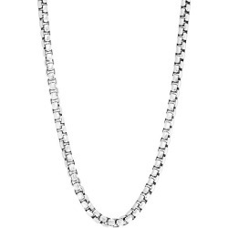 Sterling Silver Round Box Chain Necklace found on Bargain Bro Philippines from Saks Fifth Avenue OFF 5TH for $370.00