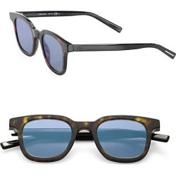 Dior Homme Men's Black Tie 2 49MM Square Sunglasses - Havana Blue found on MODAPINS from Saks Fifth Avenue for USD $325.00