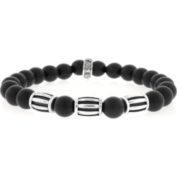 King Baby Studio Onyx Sterling Silver Three Barrel Beaded Bracelet found on Bargain Bro Philippines from Saks Fifth Avenue for $300.00