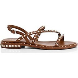 Ash Women's Peace Rockstud Leather Gladiator Sandals - Cuoio - Size 41 (11) found on MODAPINS from Saks Fifth Avenue for USD $220.00