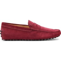 Tod's Men's Gommini Suede Penny Driving Loafers - Red - Size 10.5 UK (11.5 US) found on Bargain Bro India from Saks Fifth Avenue for $495.00