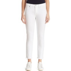 7 For All Mankind Women's Roxanne Mid-Rise Frayed Cigarette Jeans - White Fashion - Size 34 (16) found on MODAPINS from Saks Fifth Avenue for USD $101.40