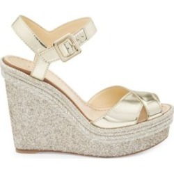 Almeria 120 Mirrored Espadrille Platform Wedge Sandals found on Bargain Bro India from Saks Fifth Avenue Canada for $831.91