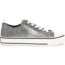 Ash Women's Vanda Glitter Canvas Sneakers - Grey Glitter - Size 39 (9) found on MODAPINS from Saks Fifth Avenue for USD $115.50
