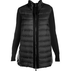Moncler Women's Long Down Knit Combo Jacket - Black - Size Medium found on MODAPINS from Saks Fifth Avenue for USD $985.00