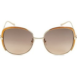 Gucci Women's 58MM Round Sunglasses - Gold found on Bargain Bro India from Saks Fifth Avenue for $550.00