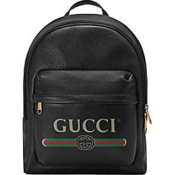 7a4af439984 Gucci Men s Gucci Print Leather Backpack - Black found on MODAPINS from Saks  Fifth Avenue for