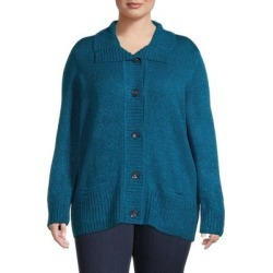 Plus Drape-Collar Marled Cardigan found on Bargain Bro Philippines from The Bay for $26.96