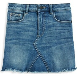 DL1961 Premium Denim Girl's Chic Denim Skirt - Blue Rose - Size 7