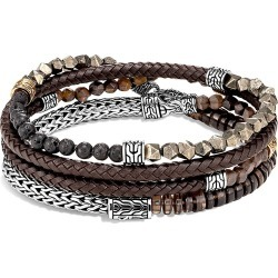 John Hardy Chain Collection 18K Yellow Gold, Sterling Silver, Multi-Stone & Leather Wrap Bracelet found on Bargain Bro Philippines from Saks Fifth Avenue for $1650.00