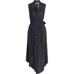 Adam Lippes Women's Polka Dot Sleeveless Silk Asymmetric Shirtdress - Black White - Size 4 found on MODAPINS from Saks Fifth Avenue for USD $387.00