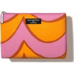 Clinique Pink/Orange Cosmetics Bag
