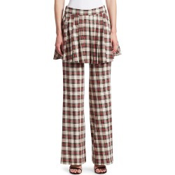 Maggie Marilyn Women's She's In Charge Layered Plaid Pants - Cream Red - Size 10 found on MODAPINS from Saks Fifth Avenue OFF 5TH for USD $59.97