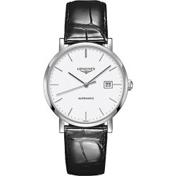 Longines Men's Elegant Collection Stainless Steel Watch - Black found on MODAPINS from Saks Fifth Avenue for USD $1900.00