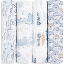 aden + anais Baby's Sunrise 4-Pack Muslin Large Swaddle Blanket
