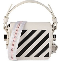 Off-White Women's Baby Diagonal Leather Crossbody Bag - White found on MODAPINS from Saks Fifth Avenue for USD $825.00