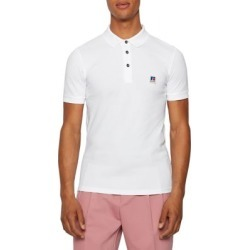 BOSS x Russell Athletic Exclusive Logo Stretch-Cotton Unisex Polo Shirt found on GamingScroll.com from The Bay for $158.00