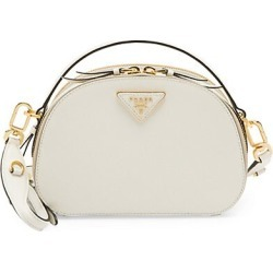 Prada Women's Odette Leather Top Handle Bag - White found on Bargain Bro Philippines from Saks Fifth Avenue for $1950.00