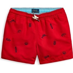 Ralph Lauren Little Boy's & Boy's Embroidered Swim Trunks - Red - Size 14 found on Bargain Bro India from Saks Fifth Avenue for $59.50