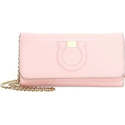 Salvatore Ferragamo Women's Mini Gancini Leather Wallet-On-Chain - Pink found on Bargain Bro Philippines from Saks Fifth Avenue for $650.00