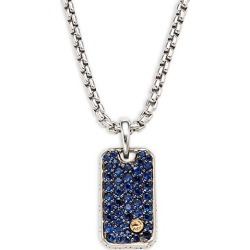 Sterling Silver, 18K Yellow Gold & Blue Sapphire Pendant Necklace found on Bargain Bro India from Saks Fifth Avenue OFF 5TH for $498.00