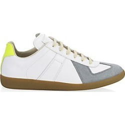 Maison Margiela Men's Replica Low-Top Leather Sneakers - White Yellow - Size 46 (13) found on Bargain Bro India from LinkShare USA for $495.00