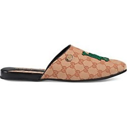 Gucci Men's Original GG Slipper with LA Angels™ Patch - Beige Ruggine - Size 10 UK (11 US) found on MODAPINS from Saks Fifth Avenue for USD $570.00