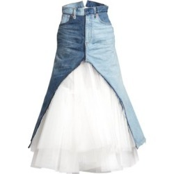 Tulle Denim Midi Skirt found on Bargain Bro India from Saks Fifth Avenue AU for $1725.65
