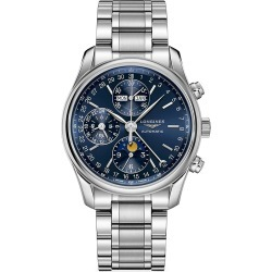 Longines Men's Longines Master 40MM Blue Dial Chronograph Stainless Steel Watch - Blue found on MODAPINS from Saks Fifth Avenue for USD $3325.00