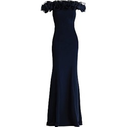 Aidan Mattox Women's Off-The-Shoulder Ruffle Gown - Navy - Size 14 found on MODAPINS from Saks Fifth Avenue for USD $350.00