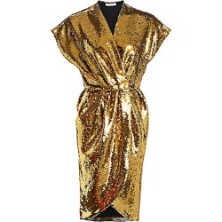 Amen Women's Embellished Wrap Dress - Gold - Size 38 (0) found on MODAPINS from Saks Fifth Avenue for USD $359.10