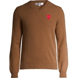 Comme des Garcons Play Men's Play Double Heart V-Neck Pullover - Brown - Size XXL found on MODAPINS from Saks Fifth Avenue for USD $394.00