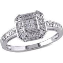 Bague en argent sterling avec diamants de 0,08 ct