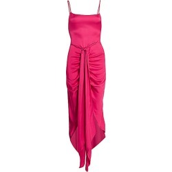 Cult Gaia Women's Natasha Tie-Waist High Low Dress - Hibiscus - Size Large found on MODAPINS from Saks Fifth Avenue for USD $239.20