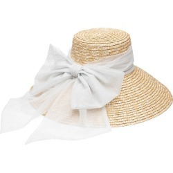 Eugenia Kim Women's Mirabel Sparkle Tulle Bow Straw Sun Hat - Natural found on MODAPINS from Saks Fifth Avenue for USD $495.00