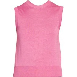 Dolce & Gabbana Women's Sleeveless Silk Knit Shell Top - Pink - Size 46 (10)