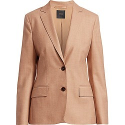 Agnona Women's Superfine Wool Single Breasted Jacket - Camel - Size 42 (6) found on MODAPINS from Saks Fifth Avenue for USD $2390.00