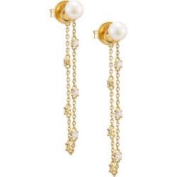 18K Yellow Gold, Pearl & Diamond Chain Earrings found on Bargain Bro UK from Saks Fifth Avenue UK