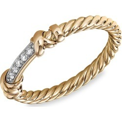 David Yurman Women's Helena Ring With 18K Yellow Gold & Diamonds - Gold - Size 7 found on Bargain Bro from Saks Fifth Avenue for USD $741.00
