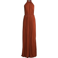 Matteau Women's Halterneck Maxi Dress - Rust Copper - Size 10 found on MODAPINS from Saks Fifth Avenue for USD $198.39