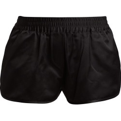 Brandon Maxwell Women's Duchesse Satin Track Shorts - Black - Size XS found on MODAPINS from Saks Fifth Avenue for USD $690.00