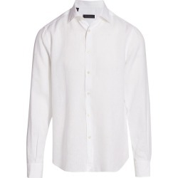 Saks Fifth Avenue Men's COLLECTION Long-Sleeve Linen Sport Shirt - White - Size Medium found on Bargain Bro India from Saks Fifth Avenue for $198.00