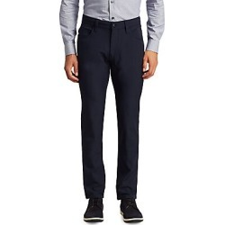 Armani Collezioni Men's Techno Stretch Slim-Fit Trousers - Dark Blue - Size 40 found on MODAPINS from Saks Fifth Avenue for USD $182.00