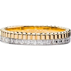 Quatre Radiant Edition 18K Yellow & White Gold & Diamond Wedding Band Ring