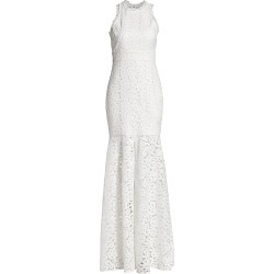 ML Monique Lhuillier Women's Sheer Lace Slit Gown - White - Size 14 found on MODAPINS from Saks Fifth Avenue for USD $695.00