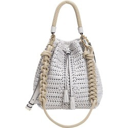 Anya Hindmarch Women's Neeson Drawstring Woven Leather Bucket Bag - Chalk found on MODAPINS from Saks Fifth Avenue for USD $1495.00