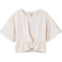 Girl's Twist-Front French Terry T-Shirt