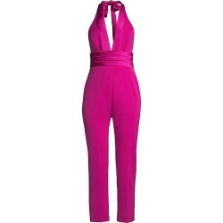 Jay Godfrey Women's Deep V-Neck Jumpsuit - Magenta - Size 10 found on Bargain Bro India from Saks Fifth Avenue for $150.00