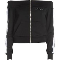 Palm Angels Women's Off-The-Shoulder Track Jacket - Black White - Size Medium found on MODAPINS from Saks Fifth Avenue for USD $475.00